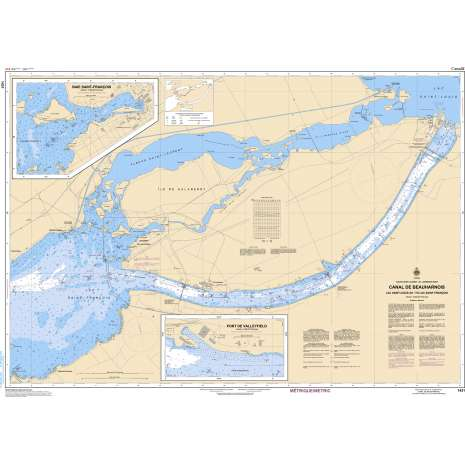 Central and Arctic Region Charts :CHS Chart 1431: Canal de Beauharnois