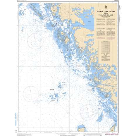 Central and Arctic Region Charts :CHS Chart 2242: Giants Tomb Island to/à Franklin Island