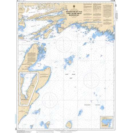 Central and Arctic Region Charts :CHS Chart 2245: Beaverstone Bay to/à Lonely Island and/et McGregor Bay