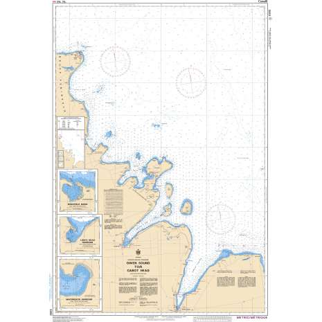 Central and Arctic Region Charts :CHS Chart 2282: Owen Sound to/à Cabot Head