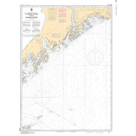 Central and Arctic Region Charts :CHS Chart 2302: St. Ignace Island to/à Passage Island