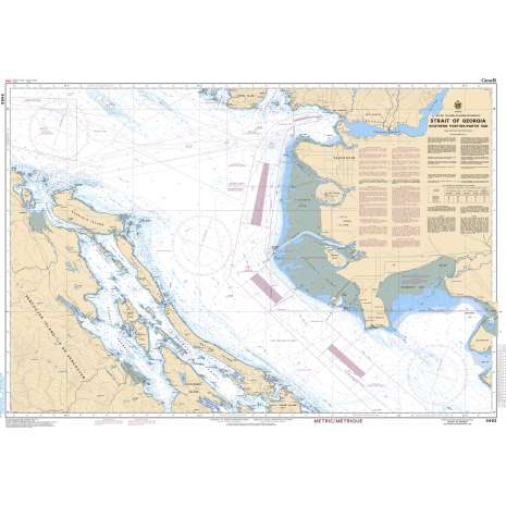 Pacific Region Charts :CHS Chart 3463: Strait of Georgia, Southern Portion/Partie Sud