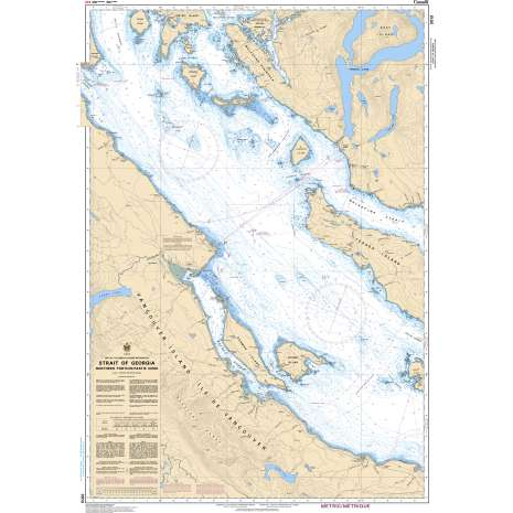 Pacific Region Charts :CHS Chart 3513: Strait of Georgia, Northern Portion/Partie Nord