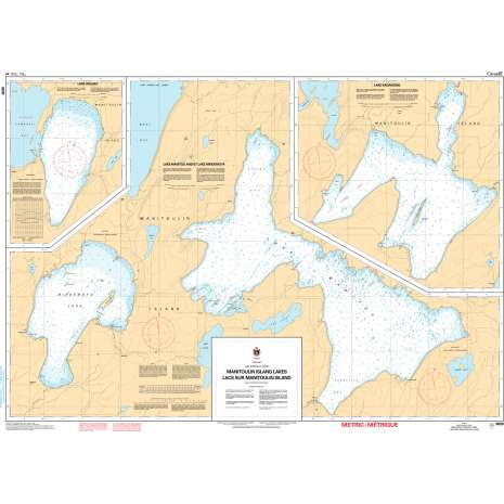Central and Arctic Region Charts :CHS Chart 6030: Manitoulin Island Lakes / Lacs sur Manitoulin Island