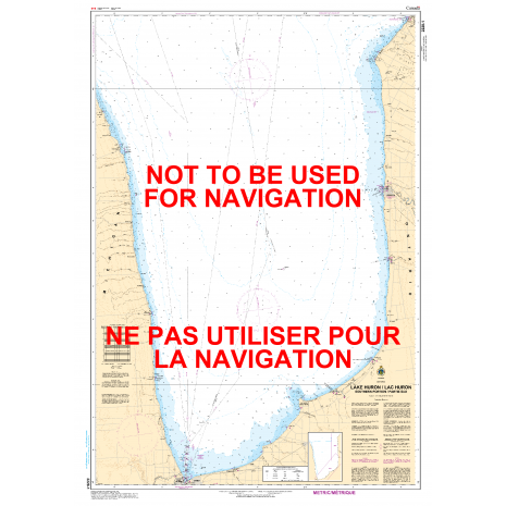 Central and Arctic Region Charts :CHS Chart 2228: Lake Huron/Lac Huron (Southern Portion/Partie sud)