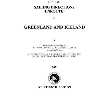 Sailing Directions Enroute :PUB 181 Sailing Directions Enroute: Greenland and Iceland