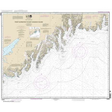 Alaska Charts, NOAA Chart 16680: Point Elrington to East Chugach Island