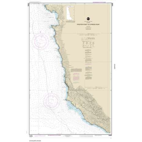 Pacific Coast Charts :NOAA Chart 18686: Pfeiffer Point to Cypress Point