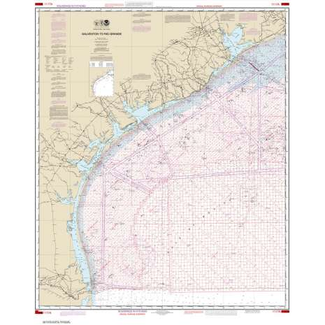 Gulf Coast Charts :NOAA Chart 1117A: Galveston to Rio Grande (Oil and Gas Leasing Areas)