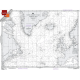 """Miscellaneous International :NGA Chart 121: North Atlantic Ocean Northern Sheet, Approx. Size 21"""" x 27"""" (SMALL FORMAT WATERPROOF)"""