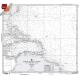 "Miscellaneous International :NGA Chart 124: North Atlantic Ocean Southwestern Sheet, Approx. Size 21"" x 23"" (SMALL FORMAT WATERPROOF)"