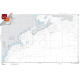 """Miscellaneous International :NGA Chart 14003: Cape Henry To Cape Race, Approx. Size 21"""" x 32"""" (SMALL FORMAT WATERPROOF)"""